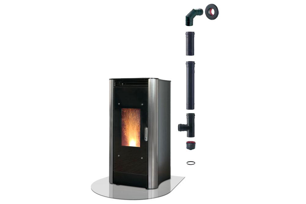 Tubi kit installazione standard archivi extrastove pellet pellet thermo stoves - Istallazione stufa a pellet ...
